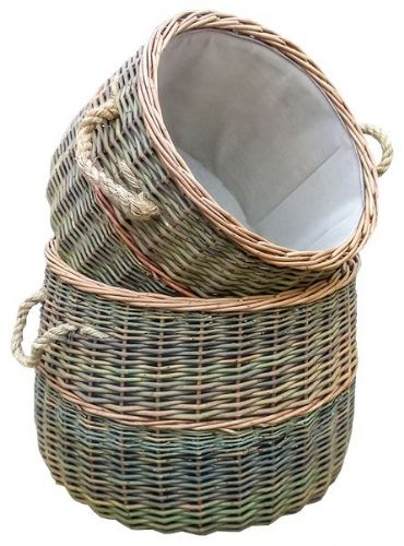 Country Buff Willow Log Basket